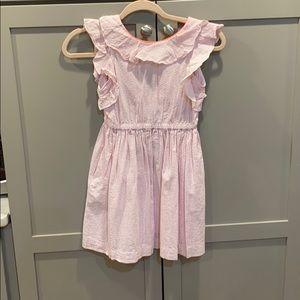 Crewcuts size 8 pink seersucker dress